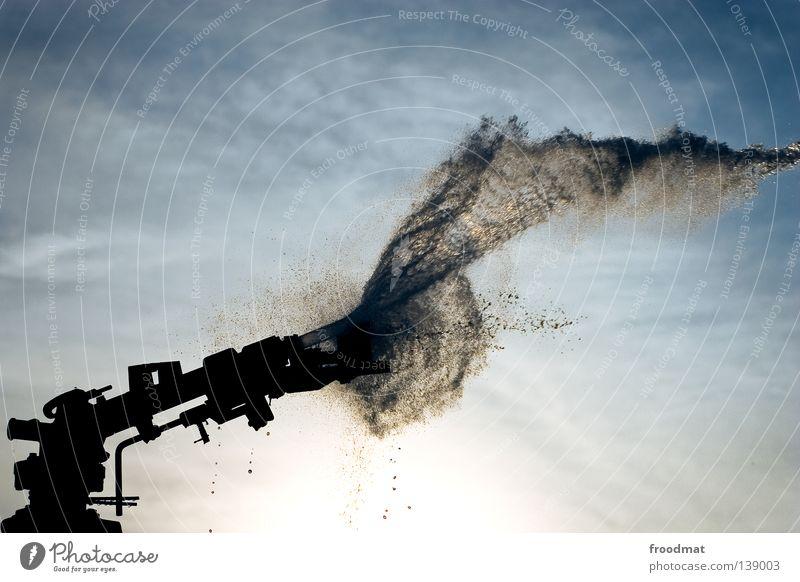 600 - wasser marsch Wasser Himmel Sonne Sommer Regen nass Wassertropfen Kraft Macht Technik & Technologie Schweiz Flüssigkeit Landwirtschaft Landwirt gefroren Strahlung