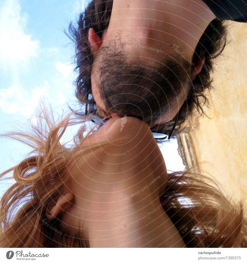 # 1390315 Lifestyle Freude schön Mensch maskulin feminin Junge Frau Jugendliche Junger Mann 2 18-30 Jahre Erwachsene 30-45 Jahre Küssen Schmatz Liebe Farbfoto