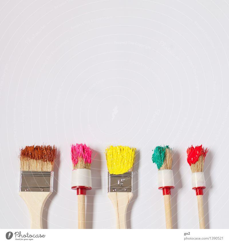 Bunt statt Braun Freizeit & Hobby Renovieren Arbeit & Erwerbstätigkeit Handwerker Anstreicher Kunst Künstler Maler Pinsel Pinselstiel Farbenwelt Farbenspiel