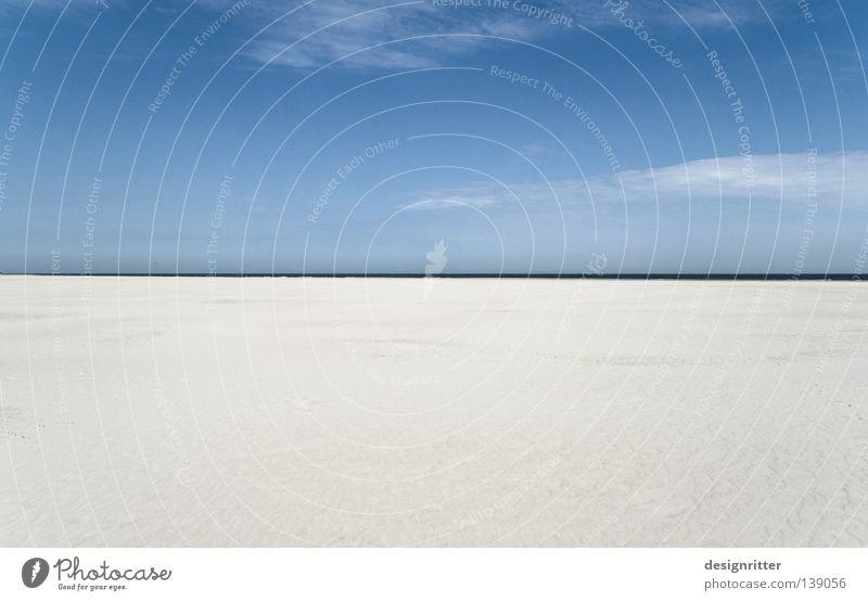 Halbzeitpause Wasser Himmel Meer blau Strand Ferien & Urlaub & Reisen ruhig Ferne kalt Erholung Freiheit See Zufriedenheit braun Erde Küste