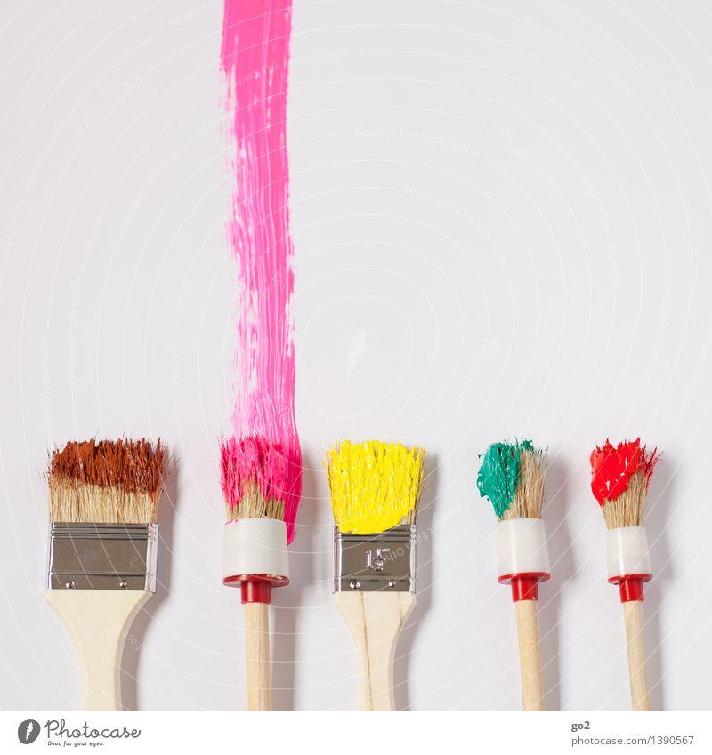 Pink grün rot gelb Farbstoff Kunst braun rosa Arbeit & Erwerbstätigkeit Design Freizeit & Hobby Fröhlichkeit ästhetisch Kreativität Lebensfreude Idee einzigartig