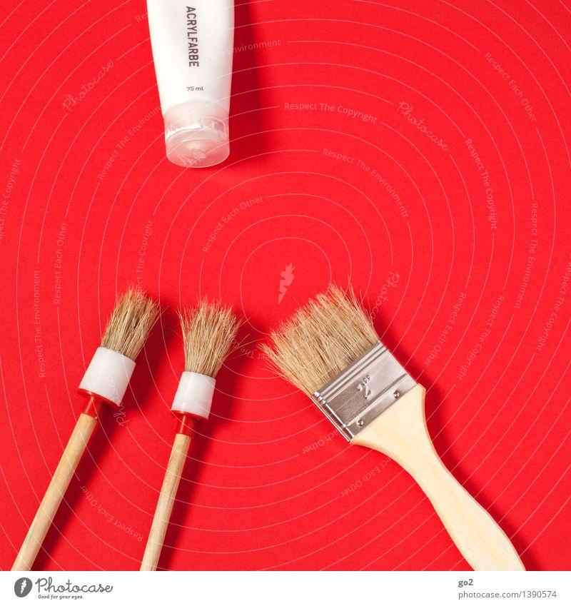 Titanweiss weiß rot Kunst Arbeit & Erwerbstätigkeit Design Freizeit & Hobby ästhetisch Kreativität Idee einzigartig Wandel & Veränderung streichen