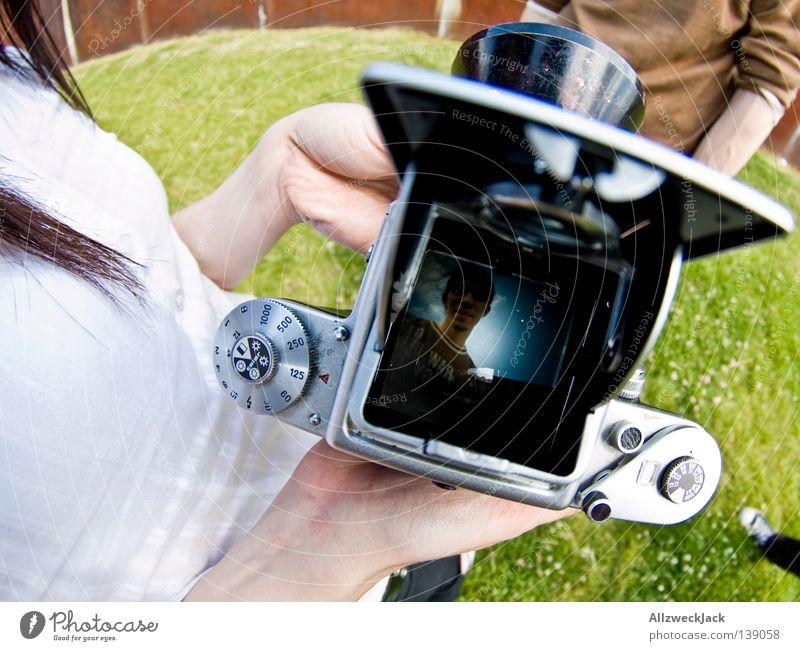 BLN 08 | Analog Fotografieren analog Sucher Porträt Fischauge Rockabilly Freude photocase usertreffen mehrere alte kamera cw-design muffinmaker jodofe