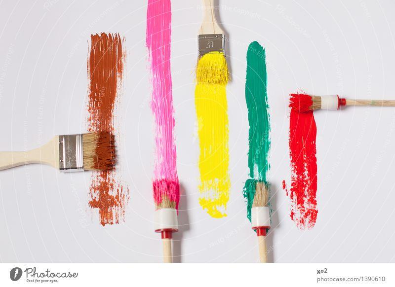 Farbenwahl grün rot Freude gelb Farbstoff Kunst braun rosa Arbeit & Erwerbstätigkeit Design Freizeit & Hobby Fröhlichkeit ästhetisch Kreativität Idee