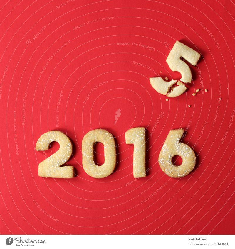 Das Jahr verkrümelt sich Lebensmittel Teigwaren Backwaren Kuchen Keks Plätzchen Plätzchenteig Ernährung Essen Kaffeetrinken Freizeit & Hobby Ziffern & Zahlen