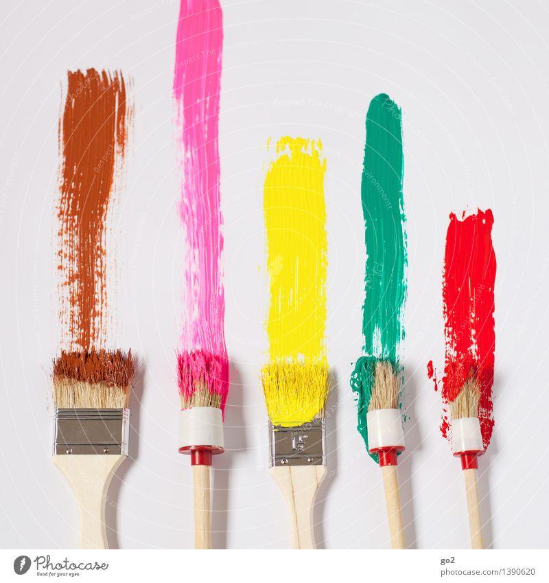 Braun Pink Gelb Grün Rot grün Farbe rot Freude gelb Kunst braun rosa Arbeit & Erwerbstätigkeit Design Freizeit & Hobby Dekoration & Verzierung Fröhlichkeit
