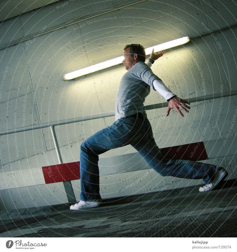 white stripes Kämpfer Schwert Zukunft Säbel Krieg Defensive Samurai Mütze Tunnel Neonlicht Licht töten Mann Zeit Überleben Macht böse Show Fälschung Lampe Sport