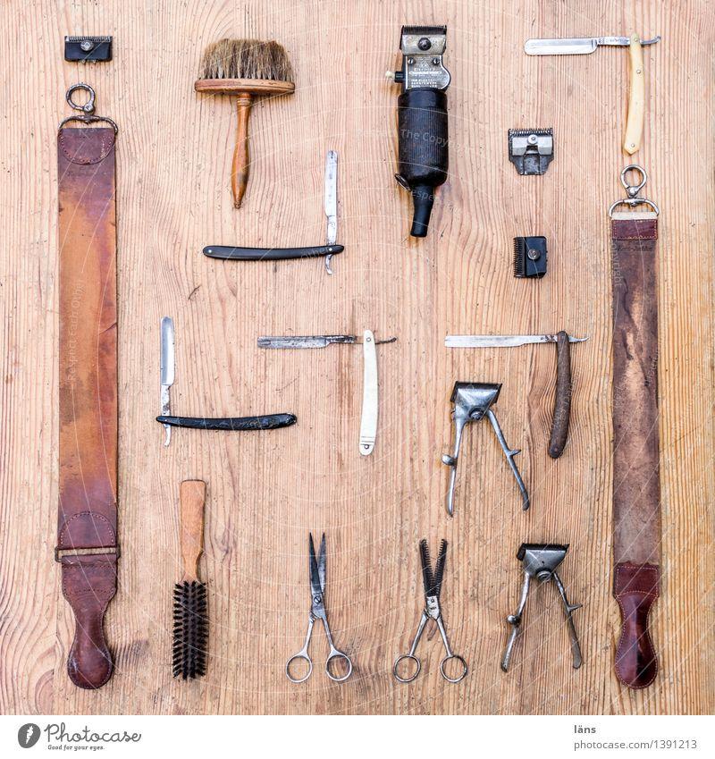 Super Still Cut Werkzeug Pinsel Friseur Schere Rasieren Rasierer Arbeitsgeräte Super Stillleben Haare schneiden Lederband