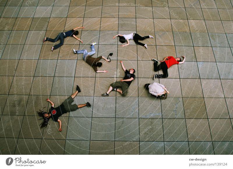 BLN 08 | PHOTOCASEUSERMASSENSTERBEN Muster Beton Linearität flach Mann Frau Kerl Erholung schlafen Rockabilly Computer-Nutzer Freundschaft Zusammensein hart