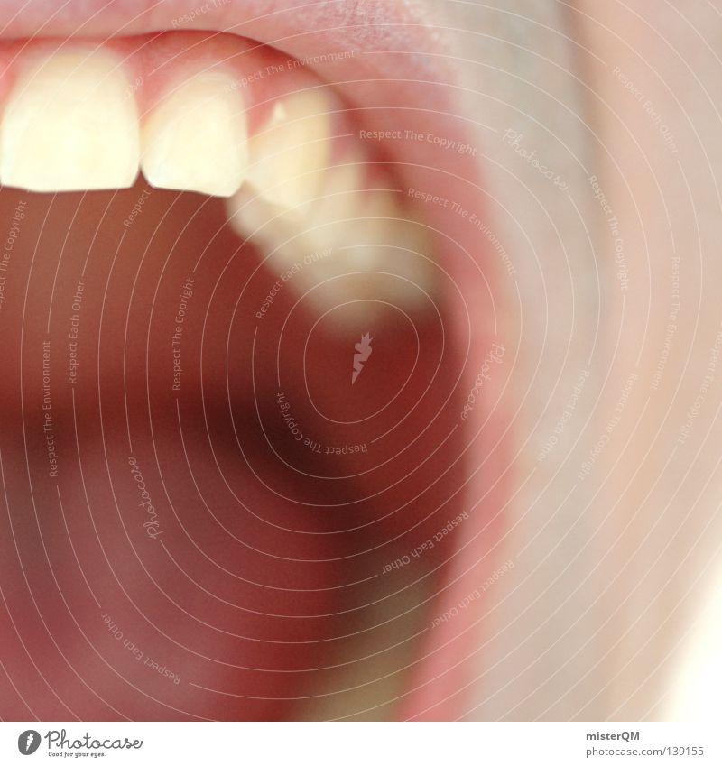 Schrei. I Mensch weiß Freude ruhig sprechen Gefühle hell Gesundheit Mund Haut verrückt Gesundheitswesen Zähne Lippen Hautfalten Frieden