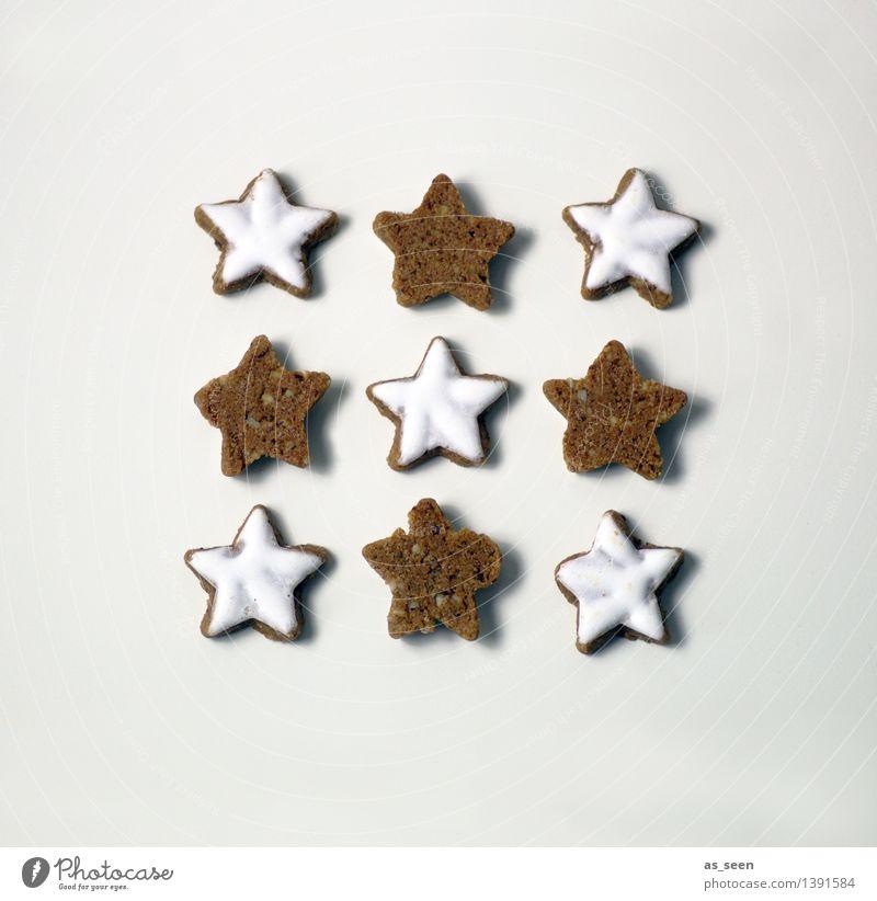 Nach dem Keks ist vor dem Keks Weihnachten & Advent weiß Essen Lifestyle Feste & Feiern Lebensmittel braun hell Design Ordnung Dekoration & Verzierung Ernährung Kochen & Garen & Backen Stern (Symbol) Küche Wellness