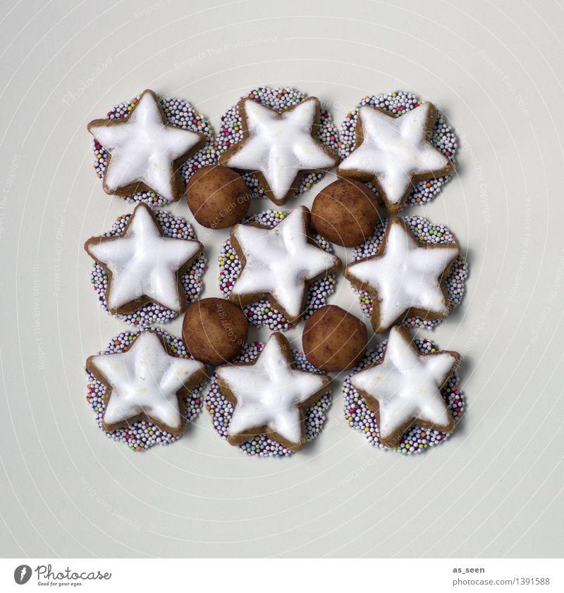 Zucker, Zimt & Marzipan Weihnachten & Advent weiß Winter Lebensmittel braun hell Design Ordnung Dekoration & Verzierung modern ästhetisch Ernährung