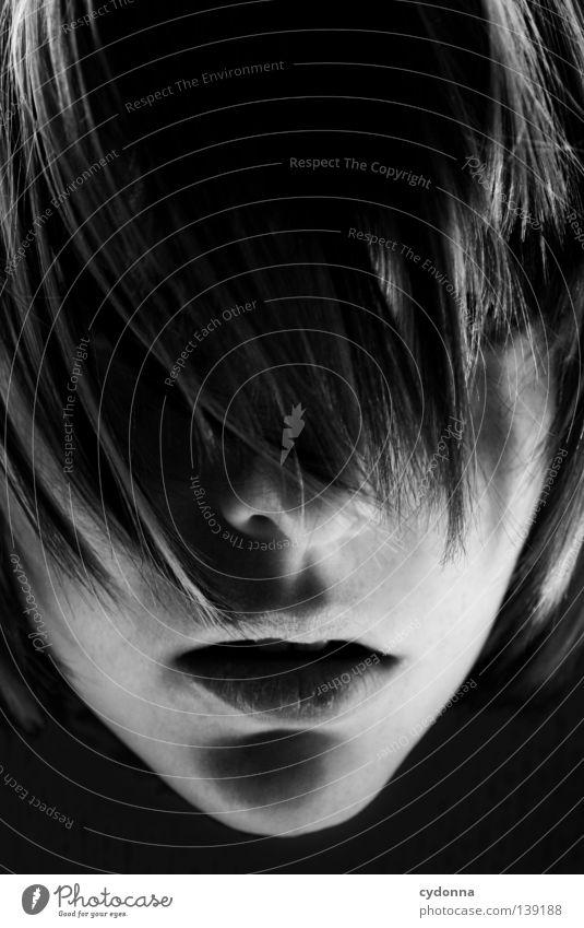 So weit ... Mensch Frau Jugendliche schön Mädchen Gesicht Leben Spielen Gefühle Wege & Pfade Haare & Frisuren Kopf groß Mund Haut Nase