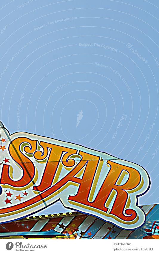 Star Himmel Schilder & Markierungen Schriftzeichen Dekoration & Verzierung Buchstaben Jahrmarkt Starruhm Typographie himmelblau Aufschrift Allüren