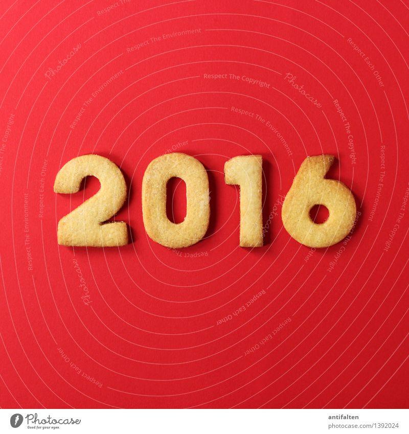2016 rot Freude Winter Liebe Essen Freizeit & Hobby Ernährung Zukunft Lebensfreude Kochen & Garen & Backen süß Ziffern & Zahlen Silvester u. Neujahr Jahreszahl