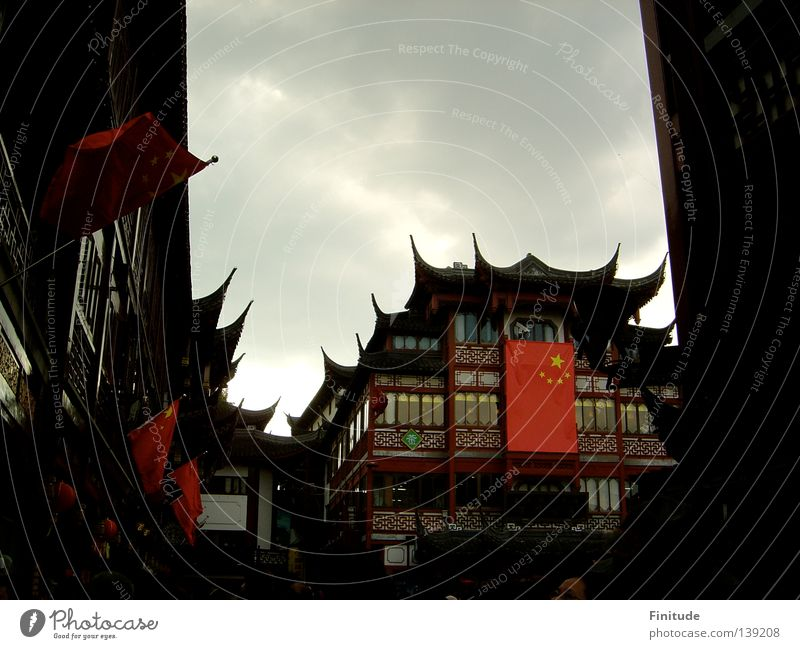 National Day China Shanghai Chinese Asien historisch nostalgic National day traditional architecture historical tee house