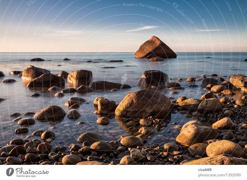 Schwanenstein an der Ostseeküste Natur Ferien & Urlaub & Reisen blau Erholung Meer Landschaft Küste Stein Felsen Tourismus Idylle Romantik Rügen