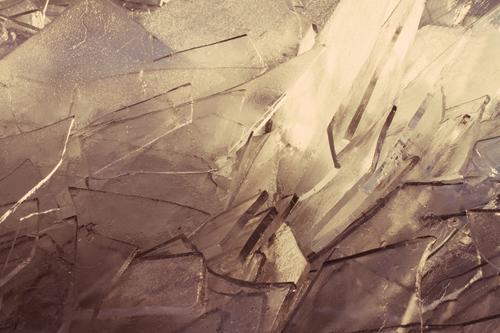 Geschnitten Eisschicht Natur Wasser Landschaft Winter kalt Klima Frost Eiskristall