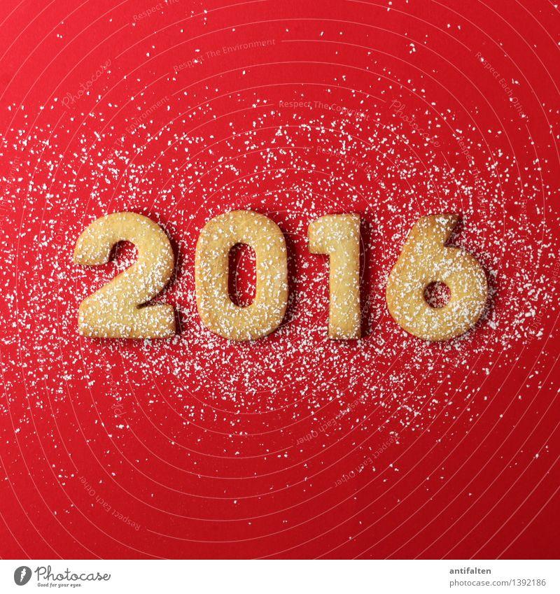 2016 mit Schnee Weihnachten & Advent rot Freude Winter Essen Lebensmittel Freizeit & Hobby Ernährung Beginn Zukunft Kochen & Garen & Backen süß Ziffern & Zahlen