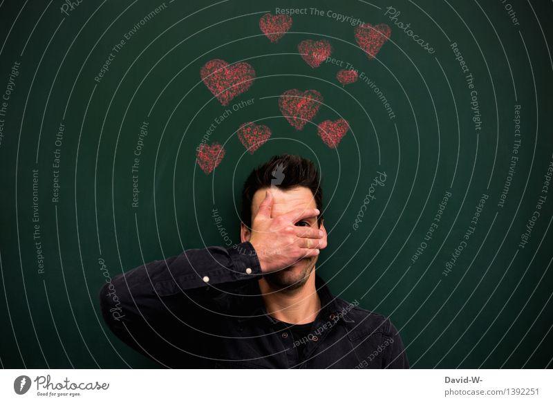 Gefühle kann man nicht Steuern elegant Stil Leben Valentinstag Mensch maskulin Junger Mann Jugendliche Erwachsene Kopf Gesicht Auge Hand 1 Kunst Künstler