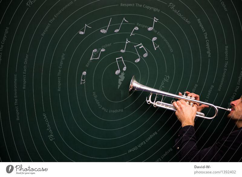 musizieren Mensch maskulin Junger Mann Jugendliche Erwachsene Leben Mund Finger 1 Künstler Jugendkultur Musik Musik hören Musiker Musiknoten Kreativität