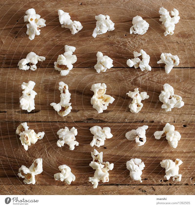 POP ART Lebensmittel Dessert Ernährung Essen Stimmung Super Stillleben Popkorn Mais Reihe weiß Reihenfolge Süßwaren Snack Farbfoto Innenaufnahme Nahaufnahme