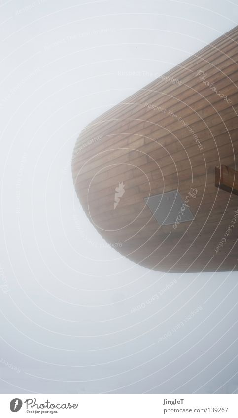 alle meine freunde sind superhelden Nebel Wolken schlechtes Wetter Bergstation Holz Tunnel Fernglas Teleskop Aussicht Neubau Berge u. Gebirge Wind