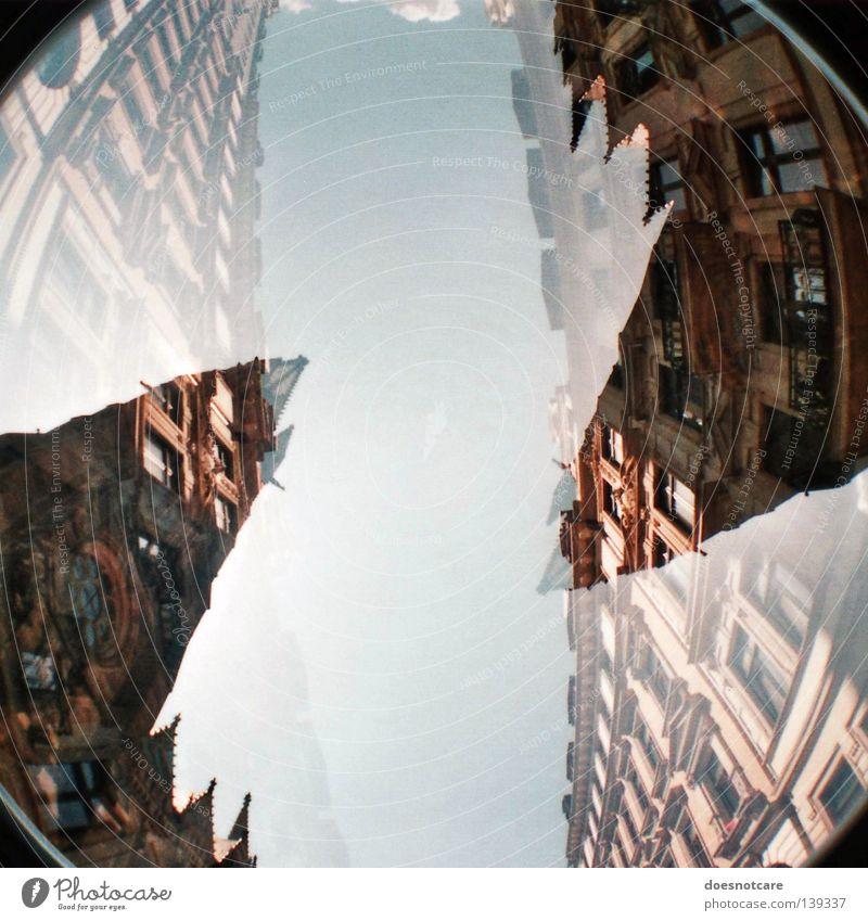 I don't know & You don't care. (You don't know & I don't care.) alt Himmel grün blau Stil Gebäude Religion & Glaube Architektur Rom Kirche Leipzig antik Gott Doppelbelichtung Christentum