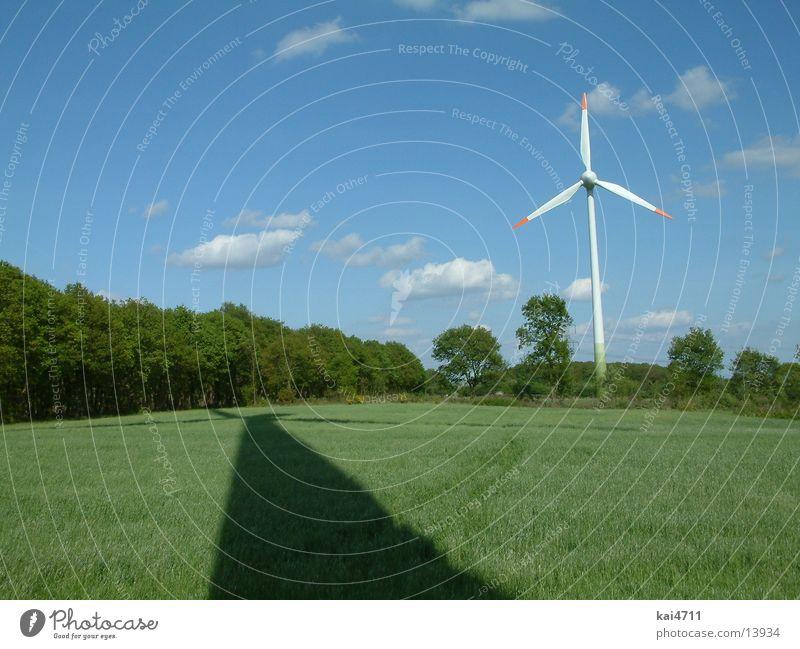 Windrad ökologisch Elektrizität Elektrisches Gerät Technik & Technologie Windkraftanlage Energiewirtschaft Schatten