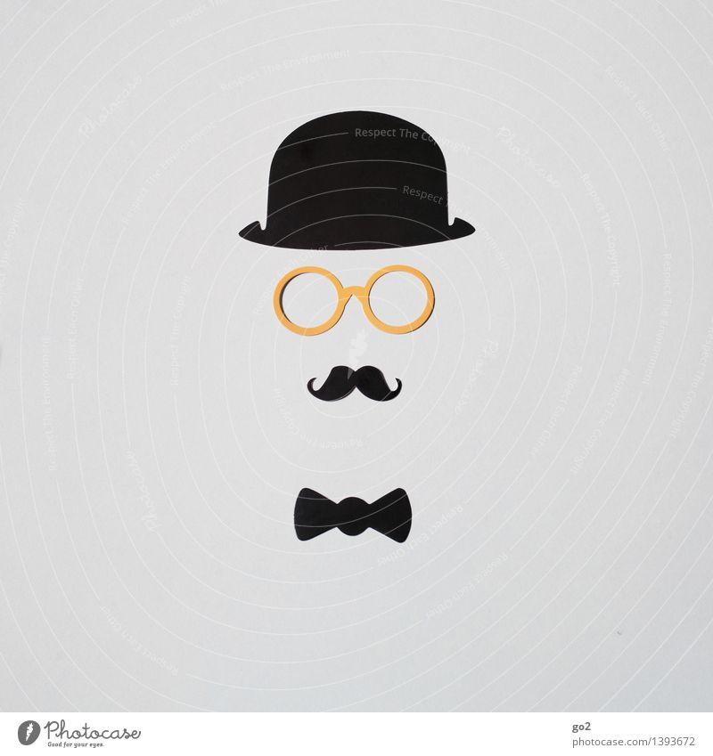 Archibald Reichtum elegant Stil Design Freizeit & Hobby Basteln Handarbeit maskulin Mann Erwachsene Leben Mode Bekleidung Anzug Fliege Brille Hut Melone