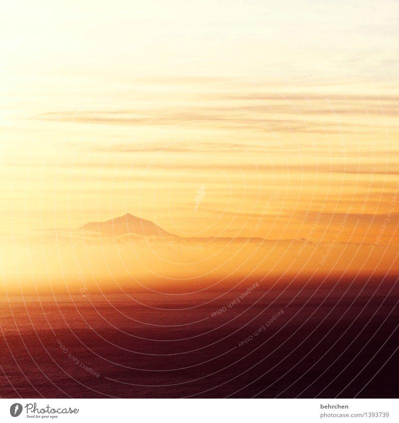 ein stück vom himmel Himmel Ferien & Urlaub & Reisen schön Sommer Meer Landschaft Wolken Ferne Berge u. Gebirge Frühling Küste außergewöhnlich Freiheit orange