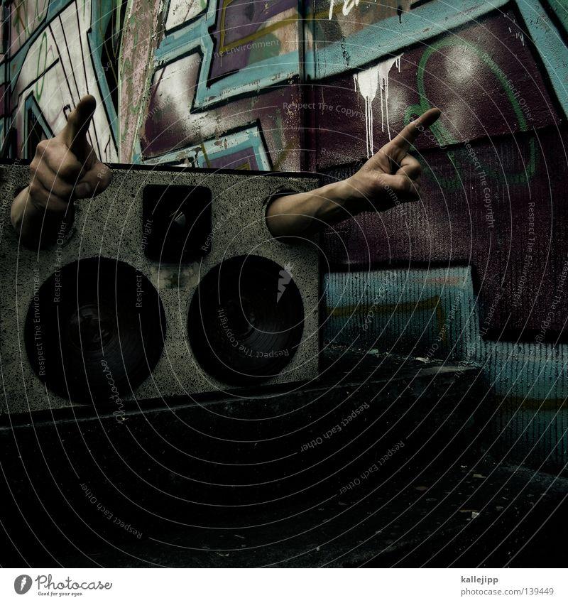 lieblingslied Faust Hand Konzert Parole Mann Lautsprecher Musik Schall Gehörsinn Mitteilung Takt Sprechgesang Hiphop Kraft Gefühle Plattencover stereo mono