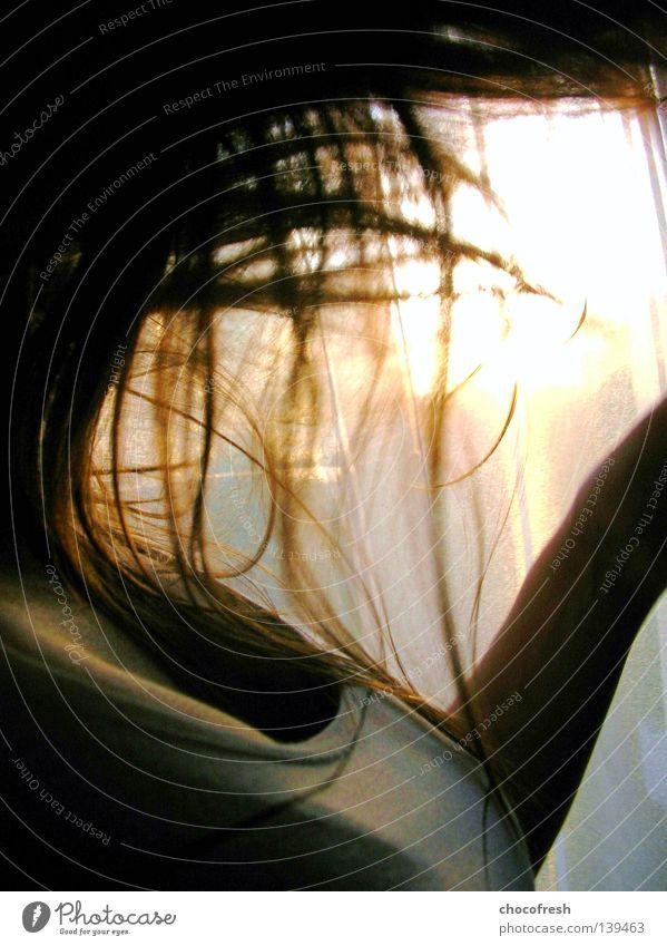 wild Frau Freude Gefühle Bewegung Haare & Frisuren