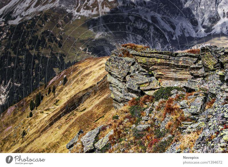 Golm (Alps, Austria) #5 Natur blau grün weiß rot Landschaft Wolken Berge u. Gebirge grau braun Felsen wandern Fußweg Hügel Alpen Hütte