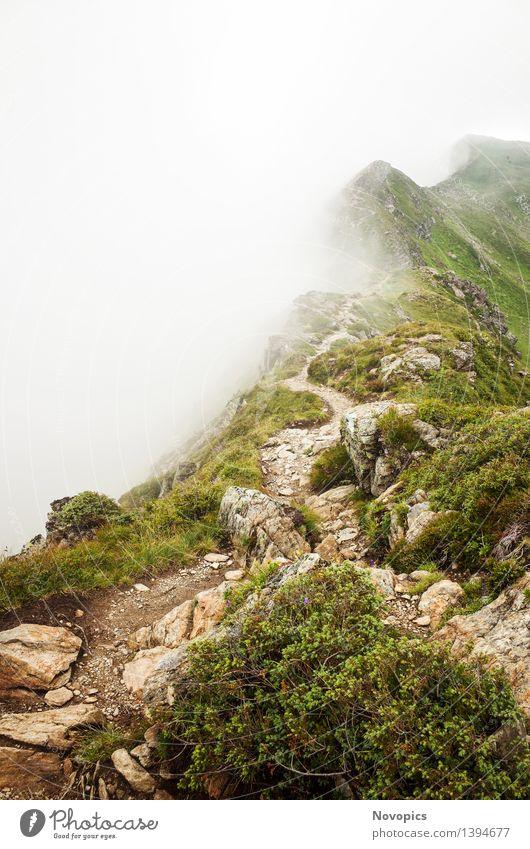 Golm (Alps, Austria) #11 Berge u. Gebirge wandern Natur Landschaft Wolken Hügel Felsen Alpen Hütte Hut blau braun grau grün rot weiß Kreuzjoch Österreich