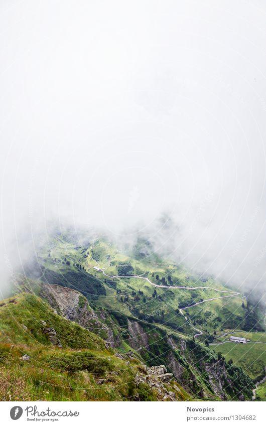 Golm (Alps, Austria) #14 Berge u. Gebirge wandern Natur Landschaft Wolken Hügel Felsen Alpen Hütte Hut blau braun grau grün rot weiß Kreuzjoch Österreich