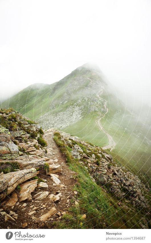 Golm (Alps, Austria) #17 Natur blau grün weiß rot Landschaft Wolken Berge u. Gebirge grau braun Felsen wandern Fußweg Hügel Alpen Hütte