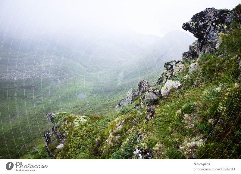 Golm (Alps, Austria) #6 Berge u. Gebirge wandern Natur Landschaft Wolken Nebel Hügel Felsen Alpen Hütte Hut blau braun grau grün rot schwarz weiß Kreuzjoch
