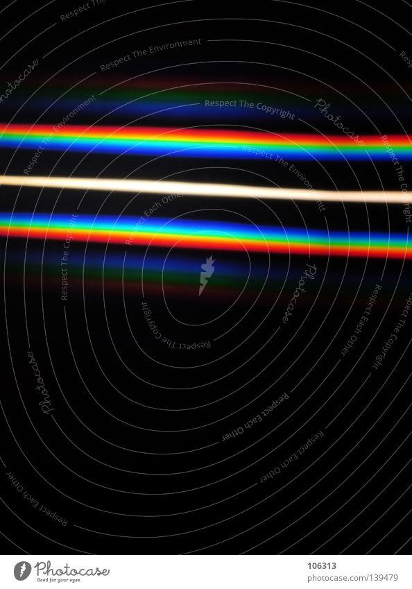 DAMALS IM PHYSIKUNTERRICHT weiß grün blau rot schwarz Farbe Linie Physik Streifen obskur Regenbogen Spalte Bruch RGB regenbogenfarben