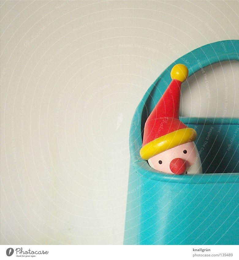 Living in a box Weihnachten & Advent weiß blau rot gelb Mütze Feste & Feiern Weihnachtsmann obskur türkis Lautsprecher Behälter u. Gefäße aufbewahren Holzkopf
