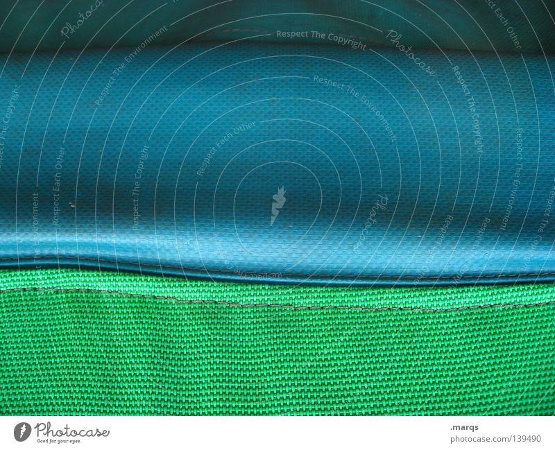 Türkisblaugrün Farbe Linie Wellen Hintergrundbild weich Netz Statue Kunststoff Oberfläche Gummi gekrümmt Naht Leichtathletik Matten