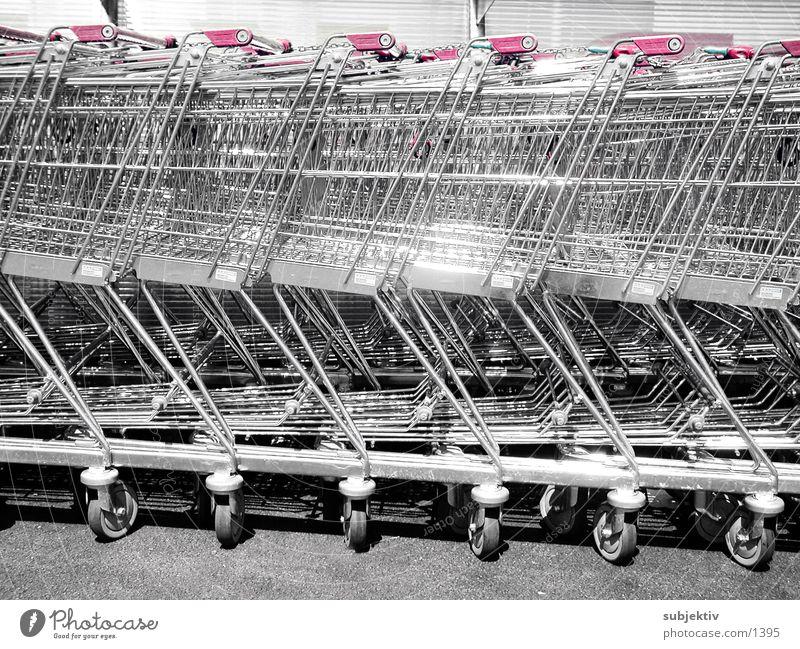 einkauf 3 Dinge Einkaufswagen Konsum