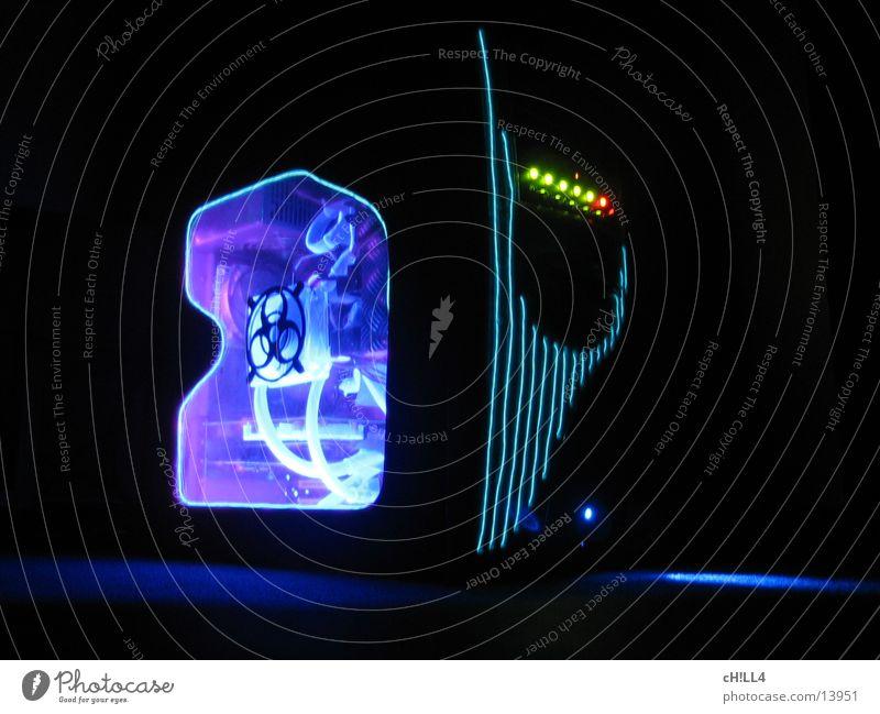 Mod Xtreme by cH!LL4 blau rot gelb Computer Technik & Technologie Fotokamera Charakter Leuchtdiode Belüftung Elektrisches Gerät Gehäuse Modding Neonband