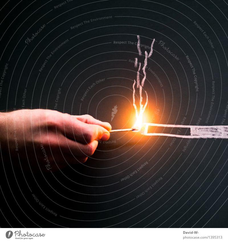 Sucht sparen Gesundheit Behandlung Krankheit Rauchen Rauschmittel Medikament Leben Erholung Mensch maskulin Junge Frau Jugendliche Junger Mann Erwachsene Hand 1