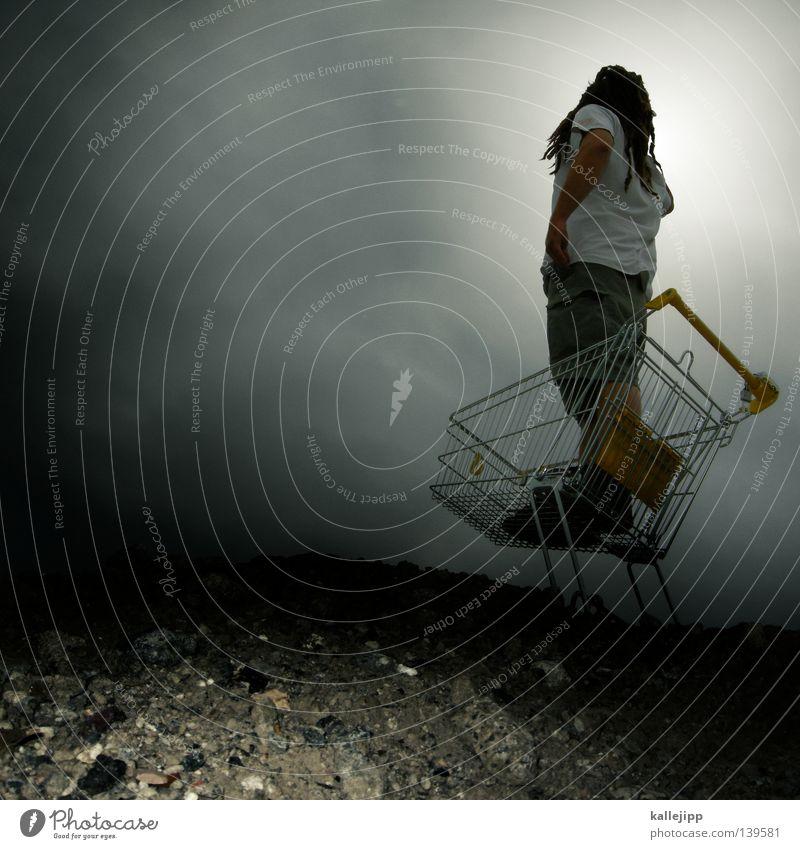 BLN 08 | krähennest Mensch Mann dunkel Arbeit & Erwerbstätigkeit Wetter Horizont Perspektive stehen Ziel Gastronomie Ladengeschäft Aussicht Gewitter