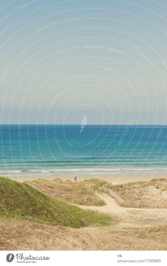 finis terrae Mensch Natur Ferien & Urlaub & Reisen Jugendliche Sommer Junge Frau Erholung Meer Einsamkeit Strand Erwachsene Umwelt Herbst natürlich feminin
