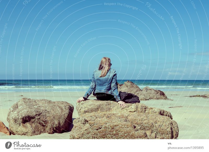 Life is a beach Erholung ruhig Schwimmen & Baden Ferien & Urlaub & Reisen Tourismus Ferne Freiheit Sommer Sommerurlaub Sonne Sonnenbad Strand Meer Wellen