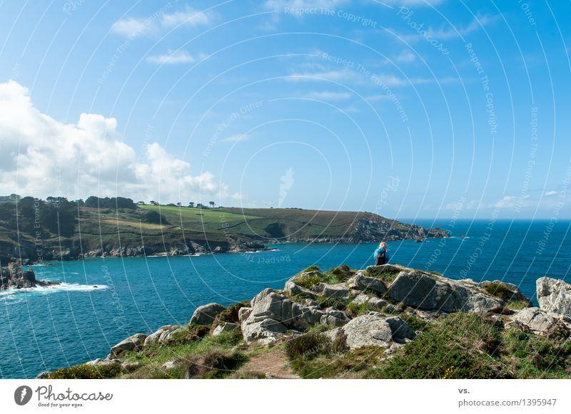 Küstenwache Ferien & Urlaub & Reisen Sommer Wasser Meer Erholung Einsamkeit ruhig Strand Berge u. Gebirge Umwelt Freiheit Felsen Tourismus wandern Wellen