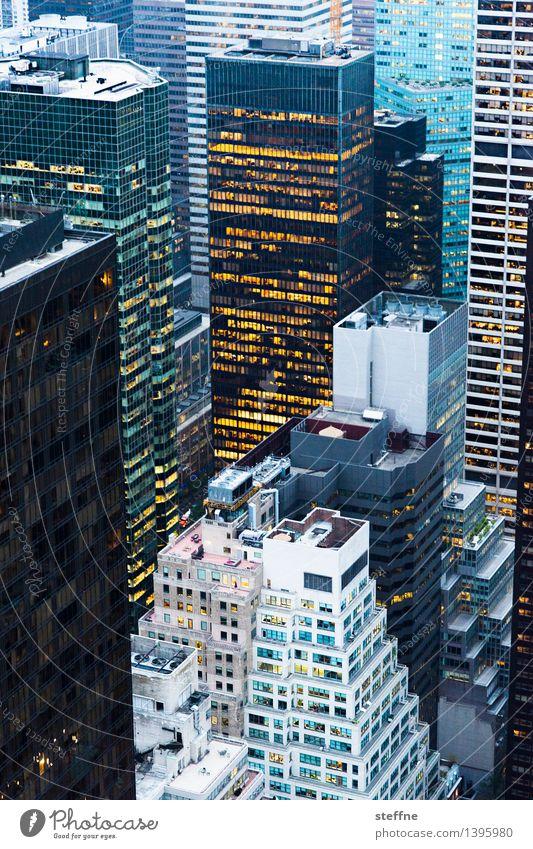 NYC |12 Stadt Freiheit Stadtleben Hochhaus ästhetisch USA Skyline Abenddämmerung Amerika Manhattan New York City