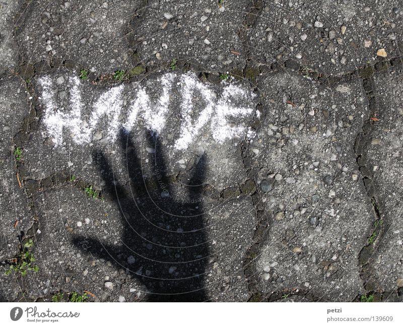 Hände (die schwarze Hand) Hand Straße Wege & Pfade Graffiti Finger Schriftzeichen authentisch 5 Kopfsteinpflaster Daumen Kreide Projekt Wandmalereien